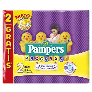 PAMPERS PROGRESSI MINI 28+2BUS